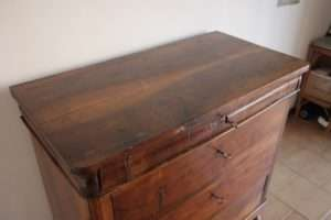 Chest drawers Louis Philippe walnut restoration