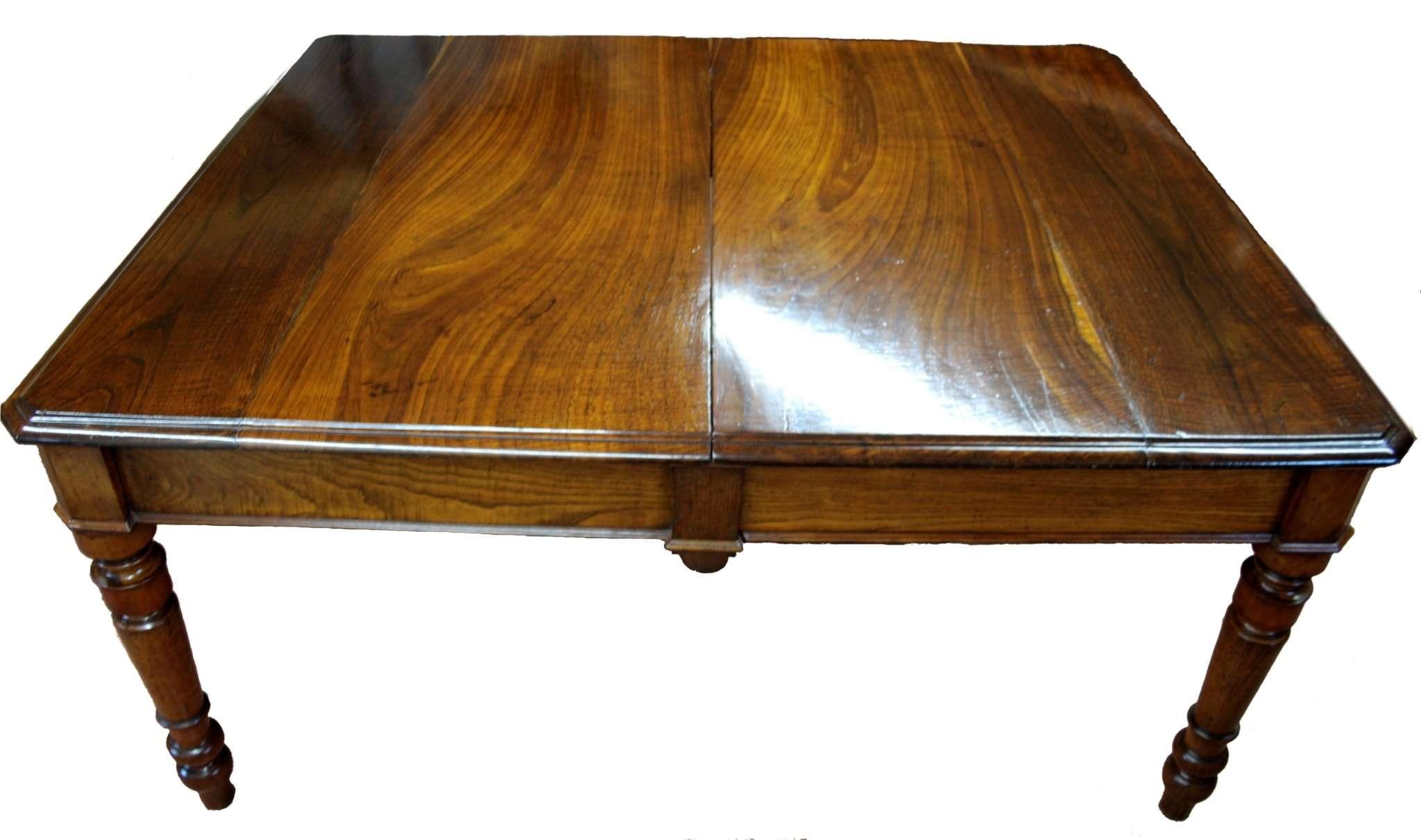 Mesa de comedor en 1800 restaurada en cereza y madera de castaño ...